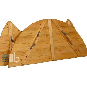 Spruce wood cover for hot tub with internal heater – BUCI