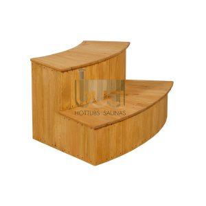 Courbée escaliers en bois d'épicéa – BUCI