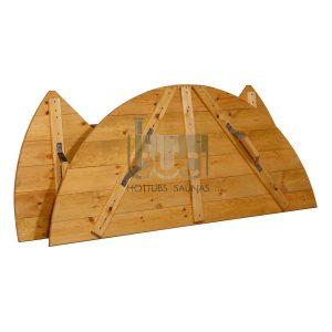Couvercle en bois d'épicéa pour spa avec chauffage interne – BUCI