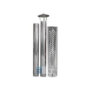 Stainless steel chimney with rain cap and protection – BUCI
