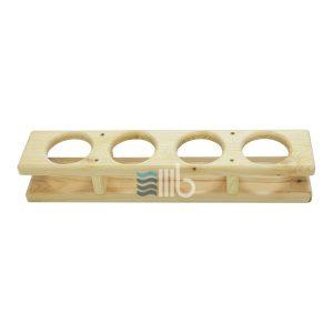 Vorderansicht der Fichte Holz Bar für Badetonne mit Innenheizung – BUCI