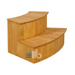 Curved spruce wood steps – BUCI
