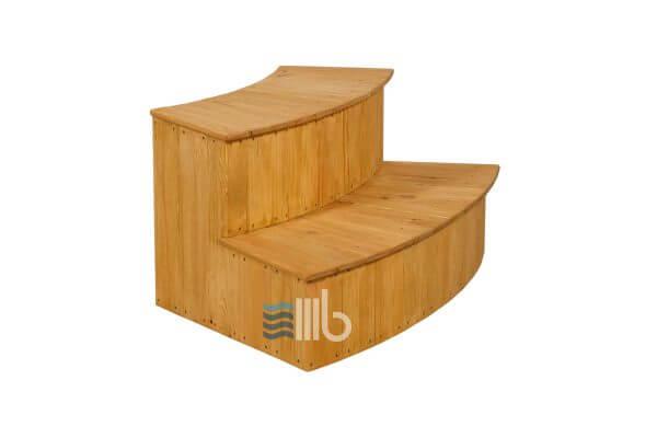Curved spruce wood steps – BUCI